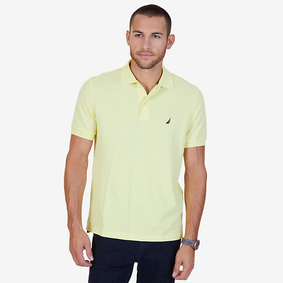 Solid Pique Deck Polo Shirt - Lemon Mist