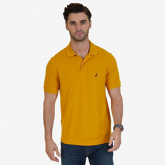 Solid Pique Deck Polo Shirt - Yellow