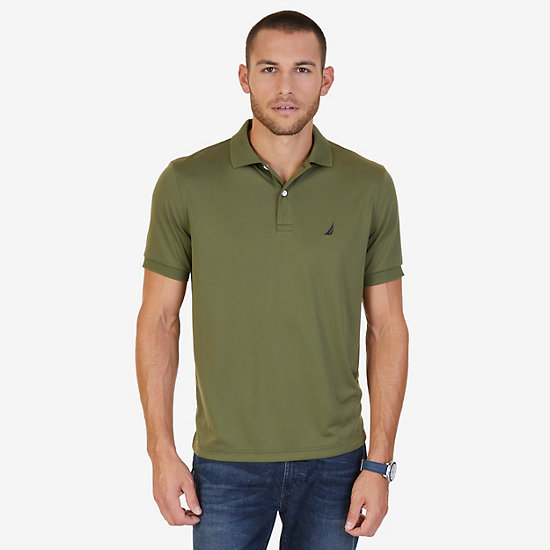 Tech Jersey Polo Shirt - Green Spruce