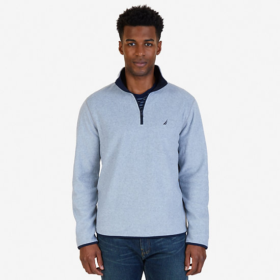 Quarter Zip Nautex Fleece - Grey Heather