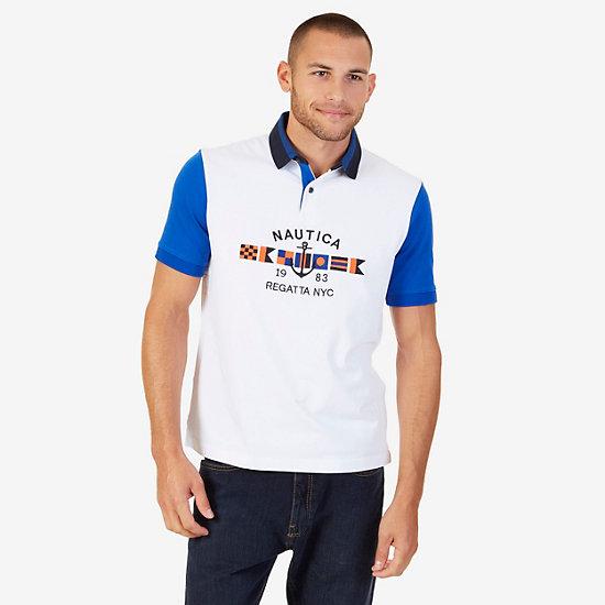 Classic Fit Logo Anchor Polo Shirt - Bright White