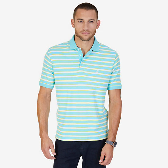 Classic Fit Striped Polo Shirt - Sapphire