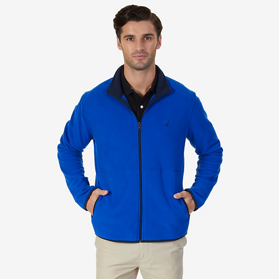 Nautex Fleece Zip Jacket - Bright Cobalt