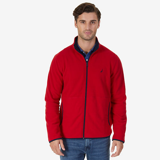Nautex Fleece Zip Jacket - Nautica Red