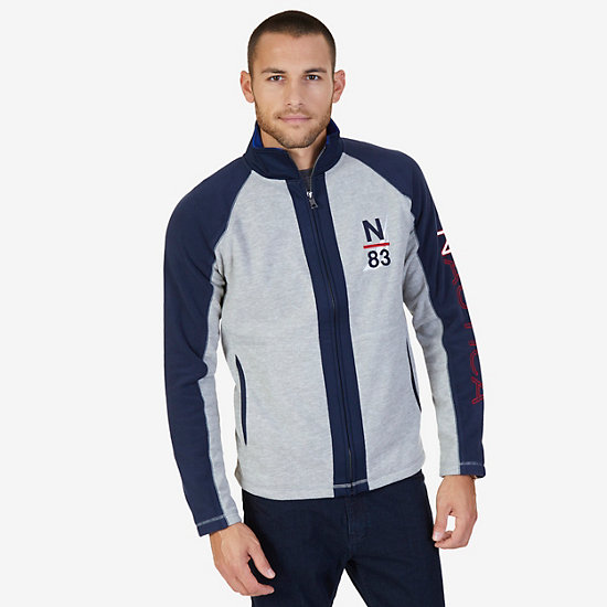 Nautex Fleece Logo Zip Jacket - Grey Heather