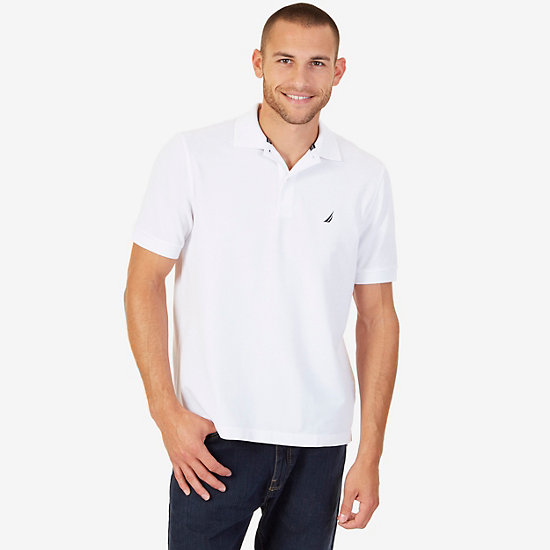 Classic Fit Performance Stretch Polo Shirt - Bright White