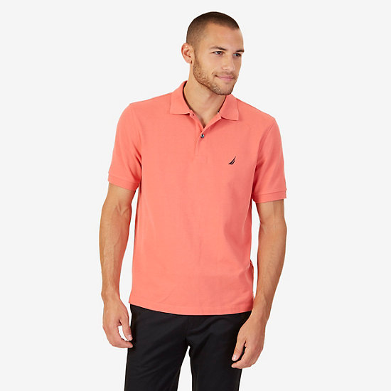 Classic Fit Performance Stretch Polo Shirt - Muskmelon