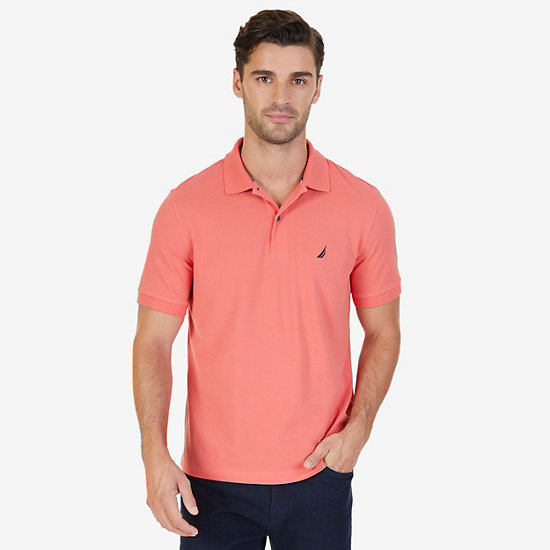 Classic Fit Cooling Performance Polo Shirt - Muskmelon
