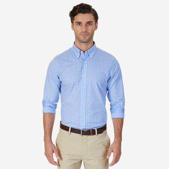 Wrinkle Resistant Classic Fit Windowpane Dress Shirt