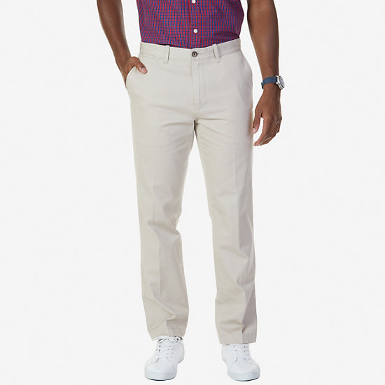 Flat Front Classic Fit Pants - True Stone