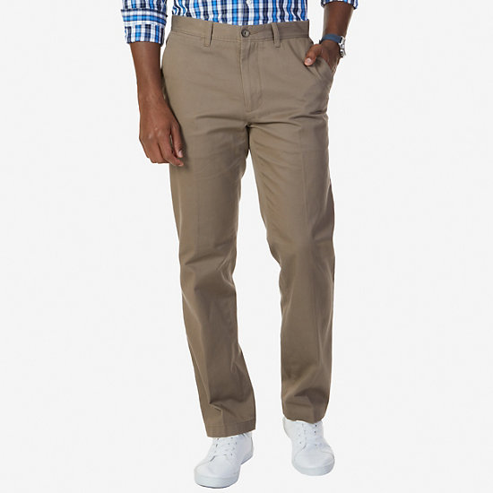 Flat Front Classic Fit Pants - Trufle