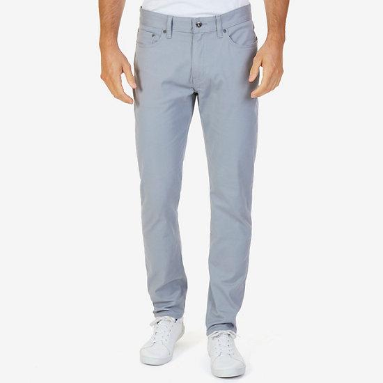 Stretch 5-Pocket Slim Fit Pants - Radial Grey