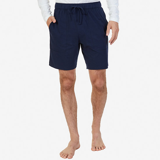 Cotton Jersey Sleep Short - Navy