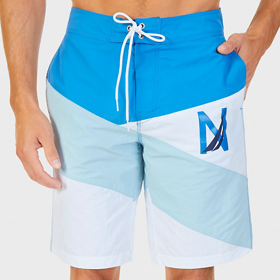 Quick Dry Diagonal Stripe Boardshort - Sport Navy