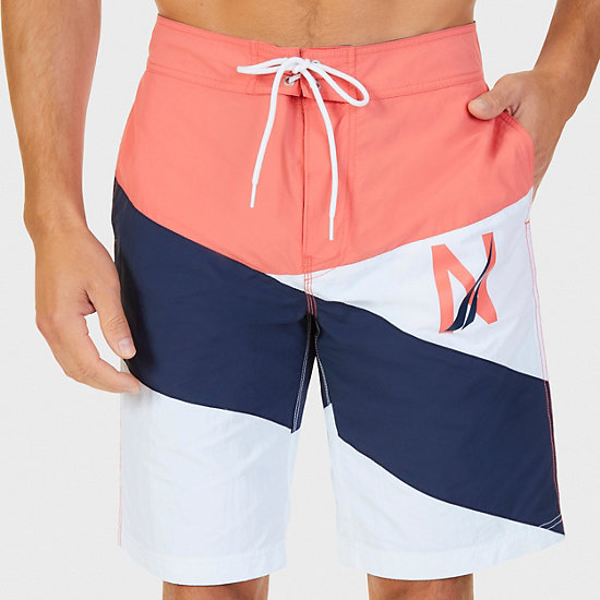 Quick Dry Diagonal Stripe Boardshort - Muskmelon