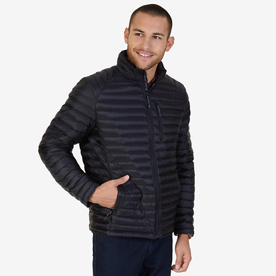 Quilted Nylon Down Jacket - Black