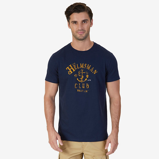 Helmsman Club Graphic T-Shirt - Navy