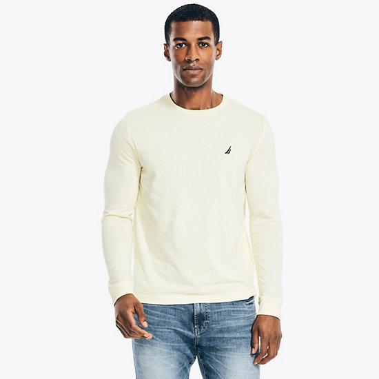Solid Long Sleeve T-Shirt - Light Mimosa