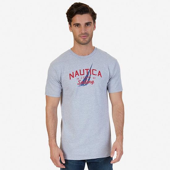 Sailing Graphic T-Shirt - Grey Heather