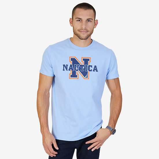 Logo Crew T-Shirt - Blue