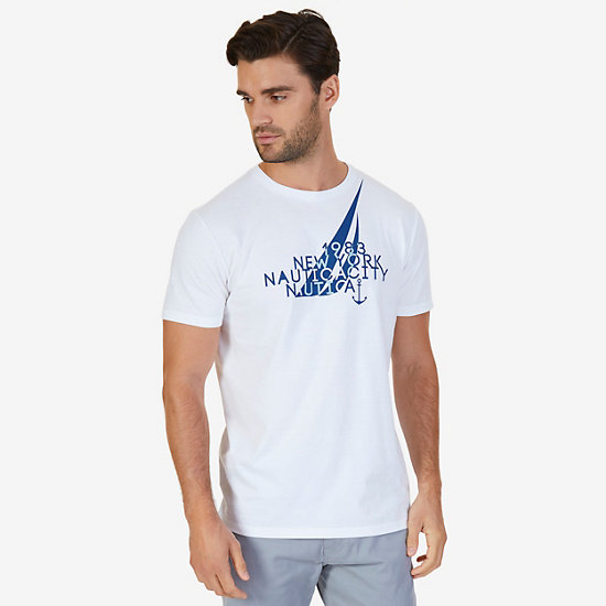 NYC J Class 1983 Graphic T-Shirt - Bright White