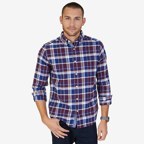 CLASSIC FIT  PLAID SHIRT - Royal Burgundy