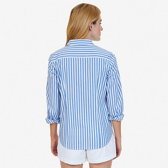 Striped Perfect Shirt,Naval Blue,large