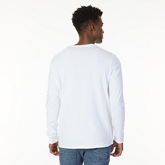 Signature Graphic Long Sleeve T-Shirt,Bright White,large