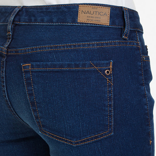 Buttoned Ankle Jean,Atlantic Light Wash Outle,large