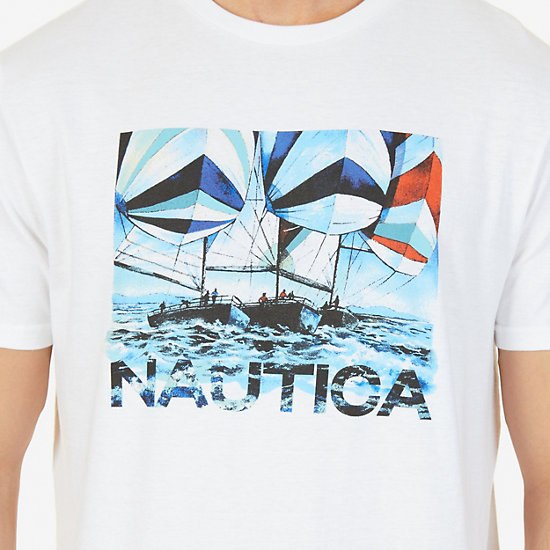 Sailing Graphic T-Shirt,Bright White,large