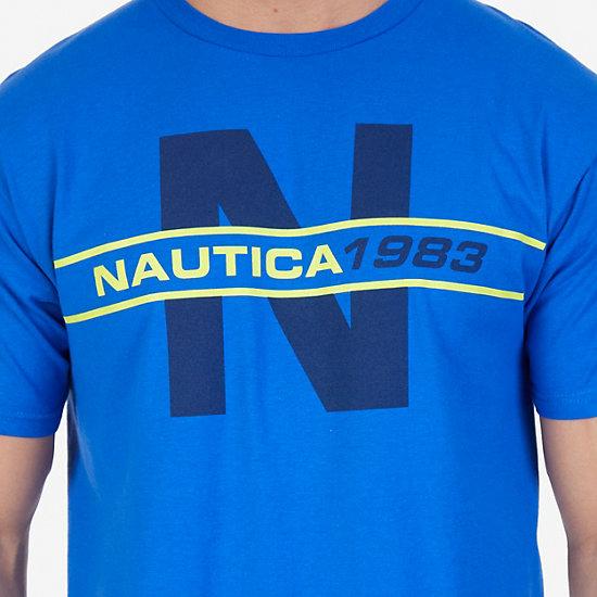 N 1983 Graphic T-Shirt,Bright Cobalt,large
