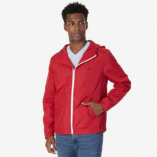 Water Resistant Bomber Jacket,Nautica Red,large