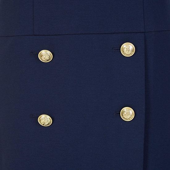 Four Button Ponte Dress,Dreamy Blue,large