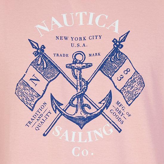 Sailing Co Graphic T-Shirt,Orange,large