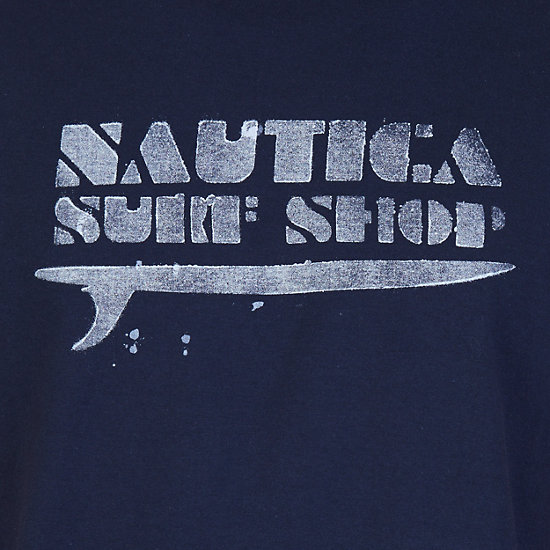 Surf Shop Graphic T-Shirt,Navy,large