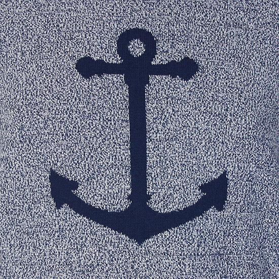 Anchor Intarsia Sweater,Navy Marl,large