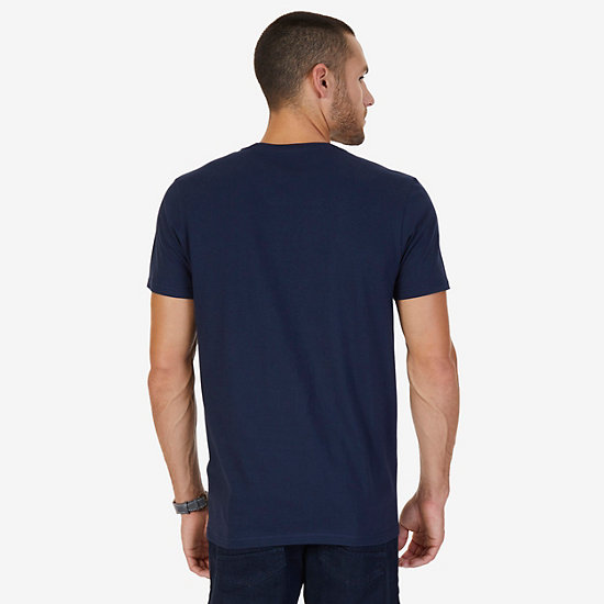 """Navigate Life"" Graphic T-Shirt,Navy,large"