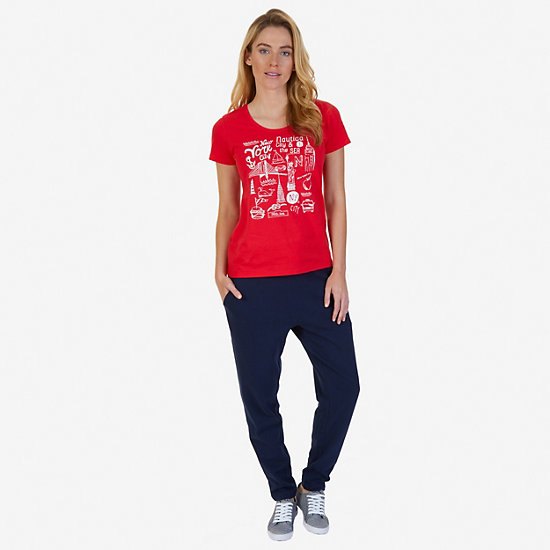 City Graphic Tee,Desert Rose,large