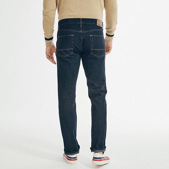 Straight Fit Dark Wash Jean,Marine Rinse Denim Wash,large