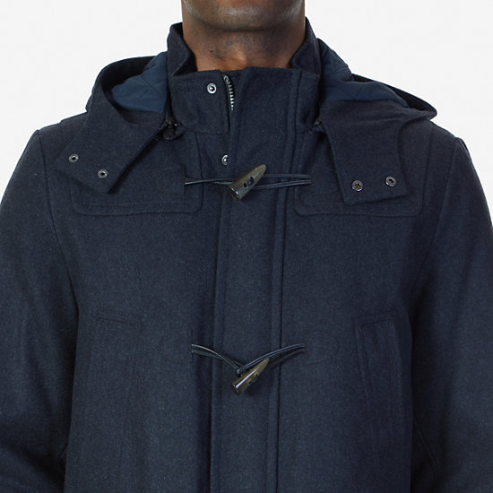 Hooded Toggle Coat,Charcoal,large