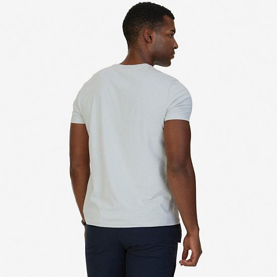 Anchor V-Neck T-Shirt,Grey Violet,large