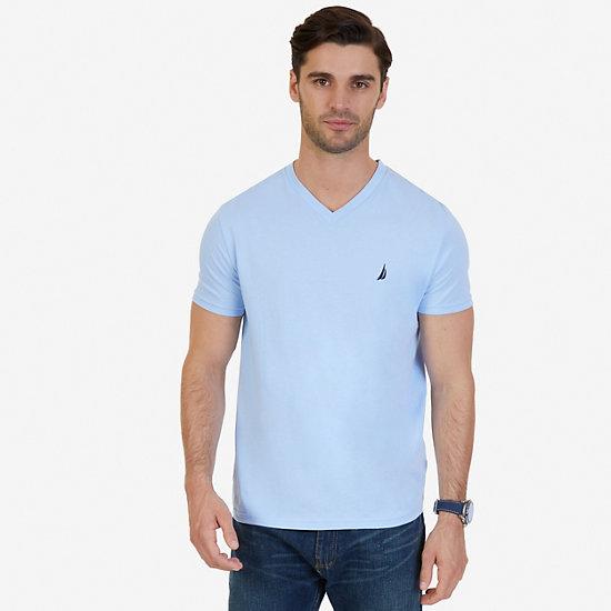 Solid V-Neck T-Shirt