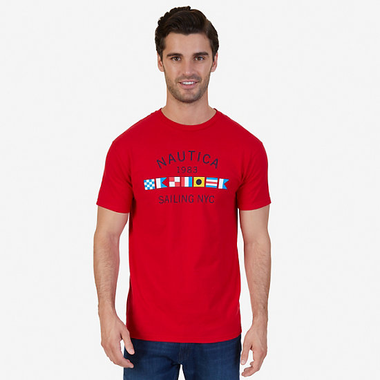 Signature Sailing Flags Graphic T-Shirt