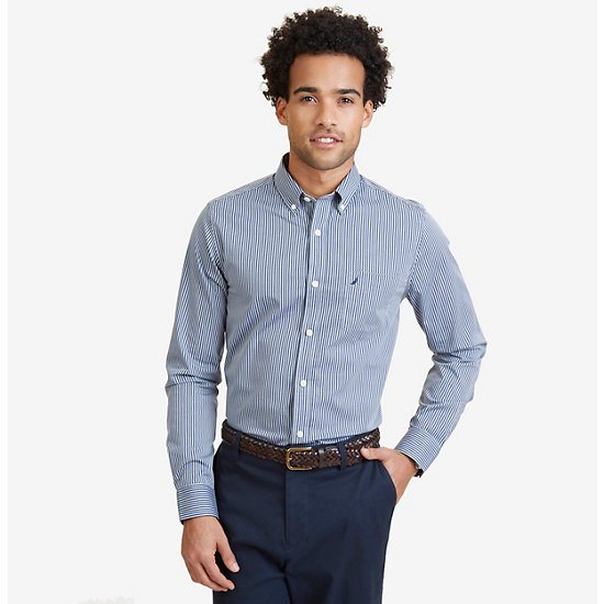 Wrinkle Resistant Striped Shirt