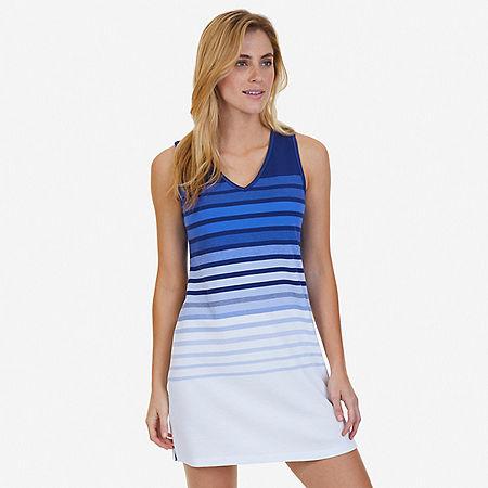 Ombré Stripe Sleep Shirt - Aquamarine