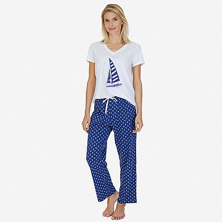 Printed Pajama Set - undefined