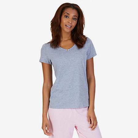 Classic V-Neck Shirt - Ice Grey Heather