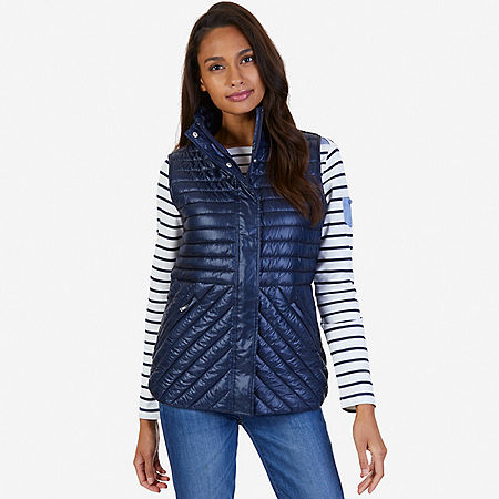 Quilted Vest - Indigo Heather