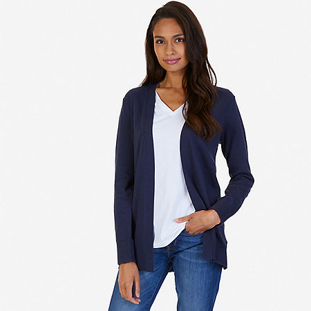 Flyaway Cardigan - Indigo Heather