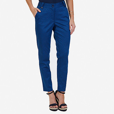 Geo Print Pant - Indigo Heather